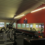 Wand in Fitnessstudio